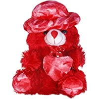 Deals Indiateddy Bear 1.5 Feet Cap Teddy Very Beautiful Huggable Valentine and Birthday Gifts Lovable Special Gift - 38.5 cm (Red)