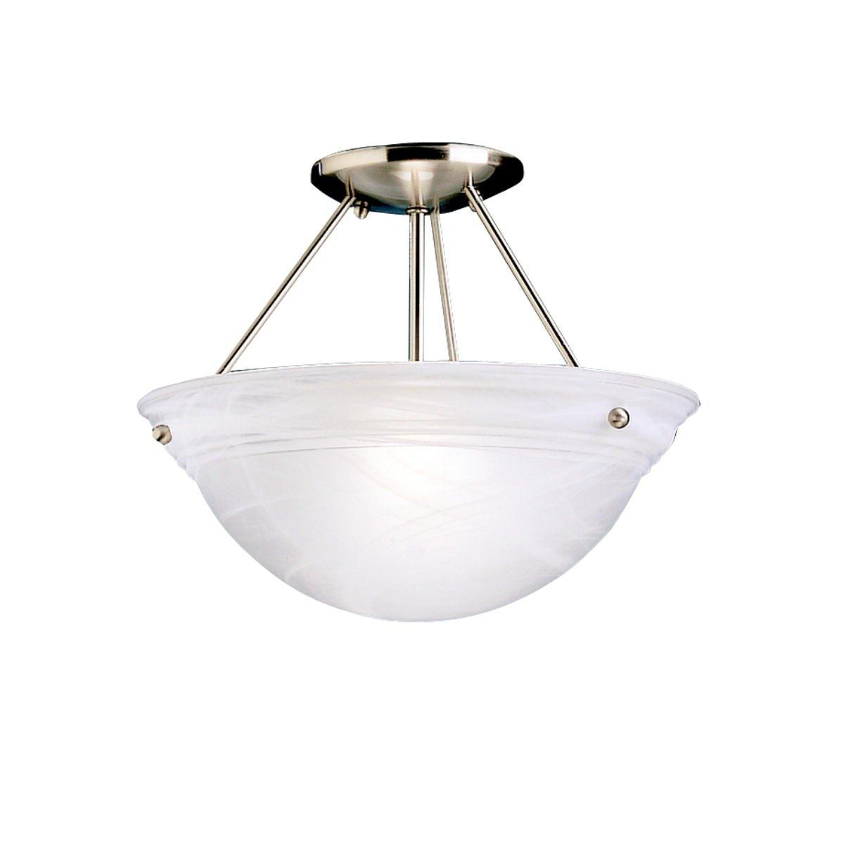kichler 3122ni cove molding 3light semi flush brushed nickel semi flush mount ceiling light fixtures amazoncom