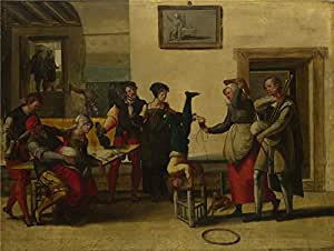 Oil painting 'After The Brunswick Monogrammist Itinerant Entertainers in a Brothel ' printing on high quality polyster Canvas , 16 x 21 inch / 41 x 54 cm ,the best Foyer gallery art and Home decor and Gifts is this Reproductions Art Decorative Prints on Canvas