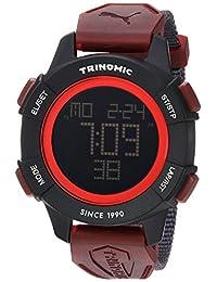 PUMA Unisex PU911271003 Trinomic Red Digital Display Watch