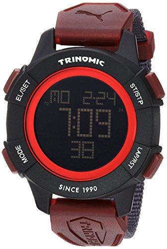 PUMA Unisex PU911271003 Trinomic Red Digital Display Watch (Sports Women Watch Puma)
