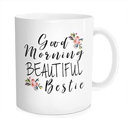 Amazoncom Hasdon Hill Funny Good Morning Bestie Coffee Mug Best
