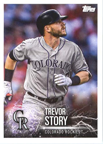 2019 Topps MLB Stickers Baseball #168 Trevor Story/Tim Anderson Colorado Rockies/Chicago White Sox Trading Card Sized Album Sticker with Collectible Card Back