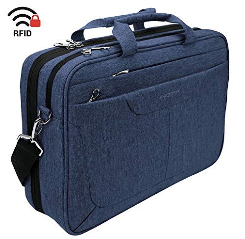 - KROSER Laptop Bag 15.6 inch Briefcase Laptop Messenger Bag Water Repellent Computer Case Tablet Sleeve with RFID Pockets for College/School/Business/Women/Men-Blue