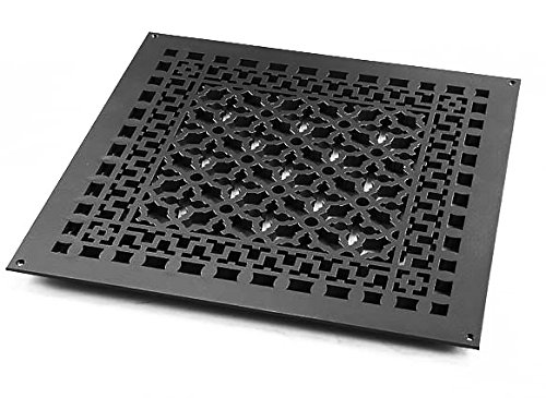 Reggio Registers 2020-AH Scroll Series 18'' x 18'' Grille with Mounting Holes, Oil Rubbed Bronze Aluminum by Reggio Registers