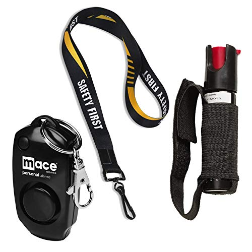 Security Equipment Runner Safety Bundle: Sabre Runner Jogger Pepper Spray, Mace Personal Alarm and a 36 Inch Breakaway Safety First Lanyard - Lot of 3 as Shown (Mace Model Jogger)