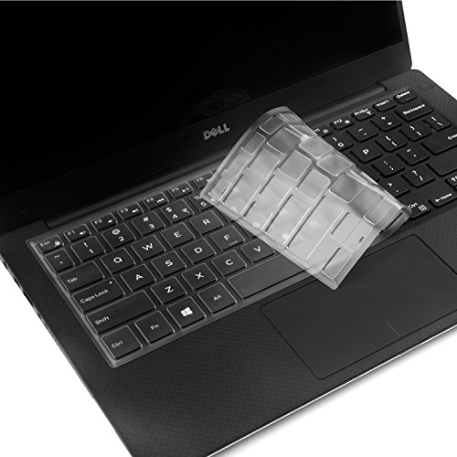 VFENG Keyboard Skins,Ultra Thin Soft Clear Keyboard Protector Cover for Dell XPS 13-9343 13-9350 13-9360 13.3-Inch Ultrabook Computer,US Layout (Dell Cover Computer)