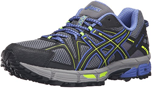 ASICS Women's Gel-Kahana 8 Trail Runner Aluminum/Black/Flash Yellow 10 M US (Asics Running Shoes Gel Flash)