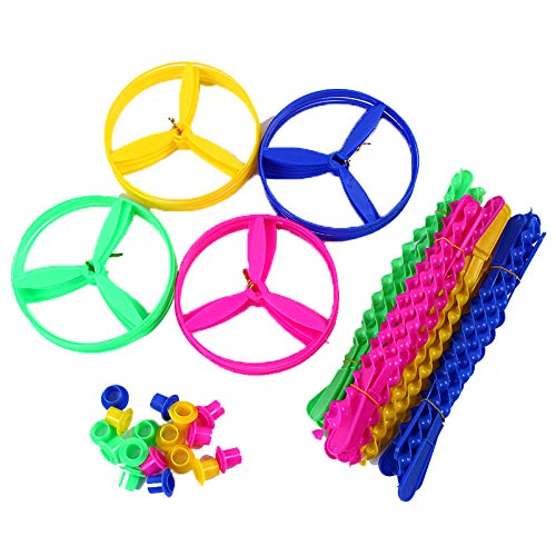 Park Saucer - Hapy Shop 60 Sets Flying Discs,Plastic Twisty Flying Saucers Flying Disc for Party Favors,Assorted Color