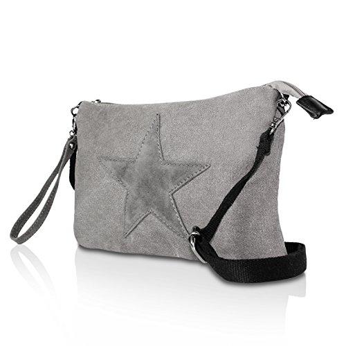 de sac à à Sacs étoile sac avec bandoulière motif sac à transport Gris Glamexx24 bandoulière bandoulière sac Fxf57w7qR