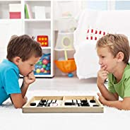 Fast Slingshot Puck Game Paced, Homkeen Slingshot Games Toy, Table Game Paced Winner Board Game for Kids &