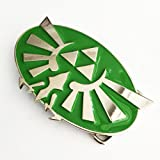 Nintendo THE LEGEND OF ZELDA Green and chrome Triforce Belt Buckle