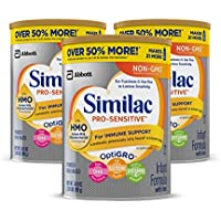 3-Pack Similac Pro-Sensitive Non-GMO Infant Formula with Iron (34.9 oz)