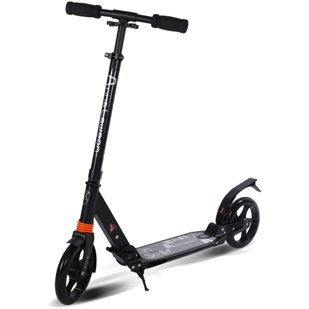 【在庫一掃】 スムース 成人用スクーター二輪アルミ大型車折り畳み成人用スクーター二輪二重衝撃吸収 耐久性のある (色 (色 ブラック) : スムース ブラック) ブラック B07KXC1JB3, 北尾化粧品部:947c15b5 --- svecha37.ru