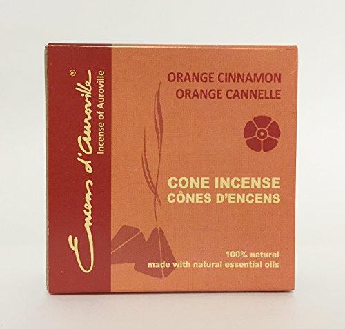 Maroma Eda Cone Incense, Orange Cinnamon, 10 Count