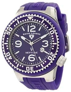 Swiss Legend Men's 21818P-11 Neptune Purple Dial Purple Silicone Watch