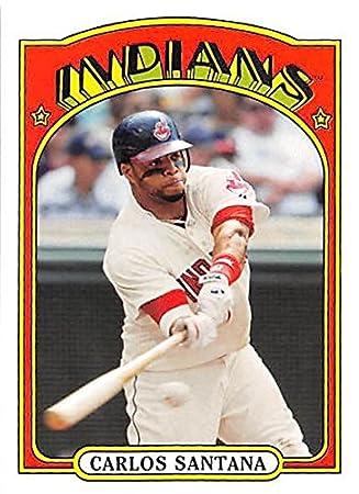 Carlos Santana Baseball Card Cleveland Indians 2013 Topps Archives