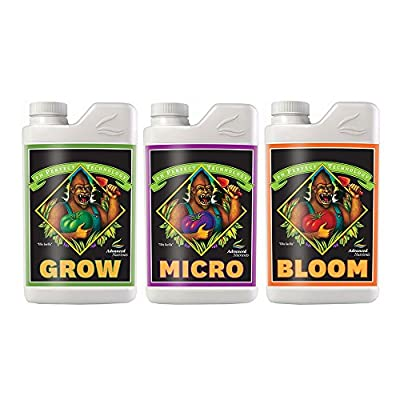Advanced Nutrients pH perfect Grow, Micro, Bloom 4L, 3-Part Base Nutrient, 4 Liters Each