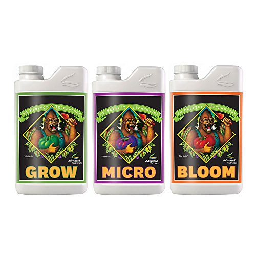(Advanced Nutrients pH perfect Grow, Micro, Bloom 4L, 3-Part Base Nutrient, 4 Liters Each)