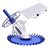 Goplus Automatic Swimming Pool Cleaner Set Clean Vacuum Inground Above Ground W/ 10 Hoses