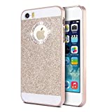 KSHOP Luxury Diamond Bling Case Coque for iPhone 6 6S (4.7 inches) Sparkling Glitter PC Back Hard Etui Housse Bright Shinning Skin Cover Shell Anti-scratch Bumper, Gold Or