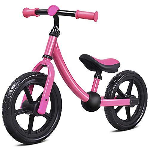 Costzon Adjustable Balance Bike for Kids, No Pedal Training Bicycle for Children Ages 1,2,3, Toddlers Walking Bicycle Balancing Bikes (Pink)