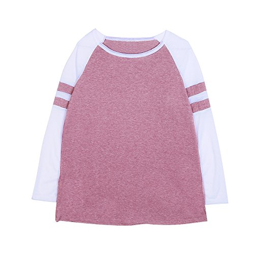 Pull Manches Rouge Sweat Casual Aelegant Tops Femme Automne Longues 1qw65