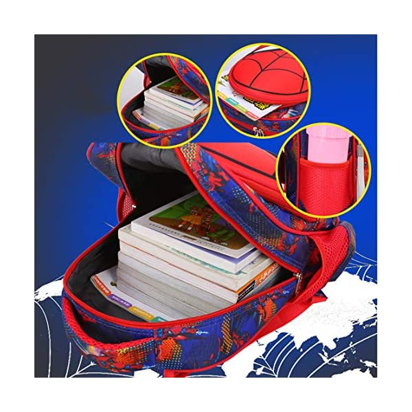 MODRYER I Bambini Zaino dei Ragazzi Spiderman Bag Kid Impermeabile Zaino elementare Studenti Daypack Kindergarten… 4 spesavip