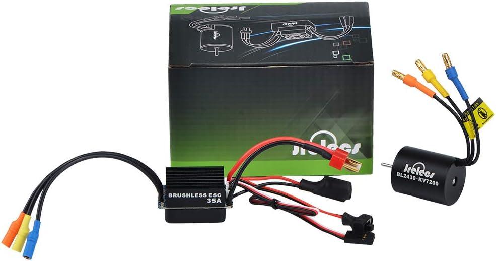 Jrelecs 3665 2600KV RC Brushless Motor 4 Pole Sensorless Waterproof for 1//10 1:10 Scale RC car Traxxas 1//10 Short Truck