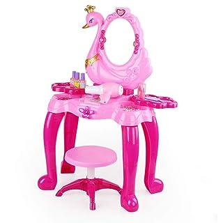 FANG1106 Building Set Costruisci e Gioca Giocattolo diverte Kids Makeup Table Pretend Dress Up Set di vanità per Bambini con Specchio e Panca Costruisci e Gioca Divertenti Giocattoli per Bambi