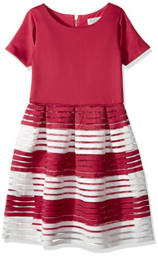 Blush by Us Angels Big Girls' Party Dress with Cut-Outs, Pomegranate, (Girl With Out Dress)
