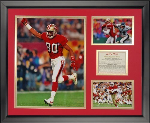 Legenden Sterben Nie Jerry Reis – San Francisco 49ers gerahmtes Foto Collage, 40,6 x 50,8 cm von Legends Never Die
