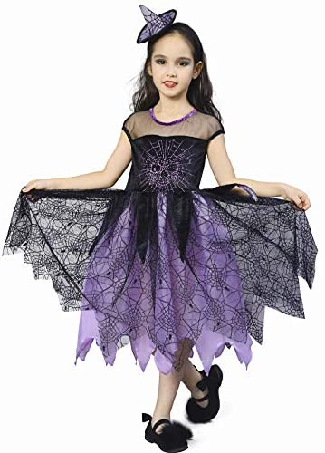 Ikali Girls Witch Costume Kids Spider Fancy Dress Up Halloween Spiderella Outfit 7 8y Purple 43234 2465 Buy Online At Best Price In Uae Amazon Ae