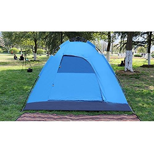 HONEYY Tente de camping en plein air 3-4 personnes camouflage tentes parasol imperméable complet ultra-léger-automatique 200*210*145cm Hayaaki