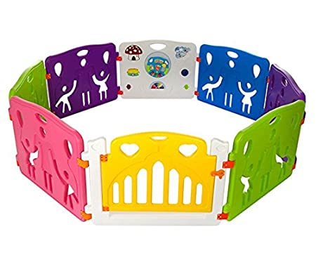 Cannons Plastic Baby Den Playpen with Games Station Large Panels, 160 x 160 cm