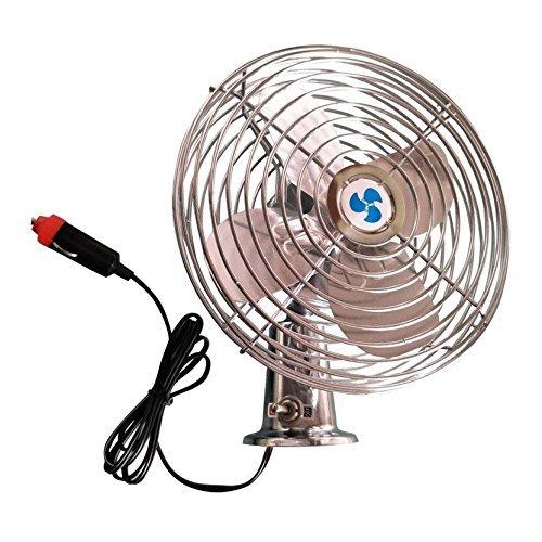 ALEKO CF02 Mini Dashboard Electric Car Fan for Summer Road Trips 6 Inch Blades 12V Aluminum