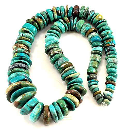 6-20mm Blue Hubei Turquoise Graduated Disc Beads 15