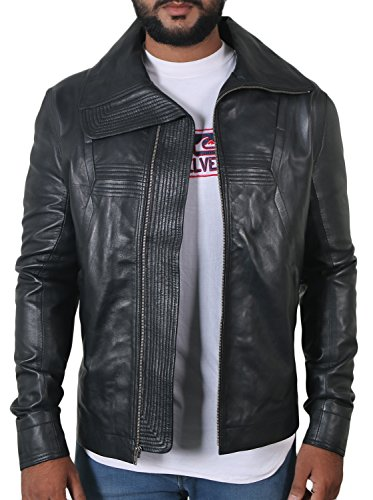 - Laverapelle Men's Black Genuine Lambskin Leather Jacket - 1801040 - Small
