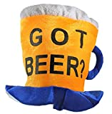 Jacobson Hat Company Men's Velvet Got Beer Mug Hat, Yellow, One Size