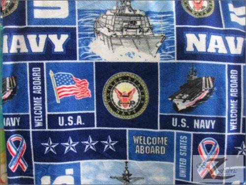 "MILITARY PRINT POLAR FLEECE FABRIC - U.S. Navy - 60"" SOLD BY THE YARD (372)"