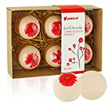 Bath Bombs Gift Set, 6 USA Designed Love Fizzies, Spa Gift Set Includes Essential Oils and Natural Vitamins, Best Wedding, Anniversary, Birthday or Graduation Gift for Women and Girls (Cherry Blossom)