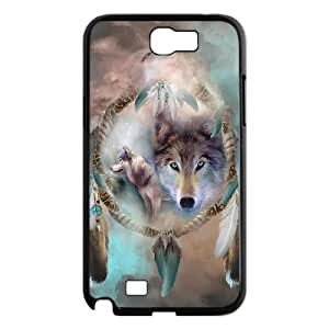 JFLIFE Wolf Dream Catcher Phone Case for samsung galaxy note2 Black Shell Phone [Pattern-1] hjbrhga1544