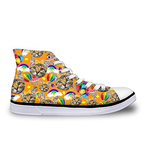 Pour U Dessins Mignon Toile Chaussures Haut Haut Animal De Compagnie Chat Chien Femmes Casual Espadrilles Plates Animal 2
