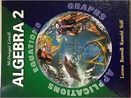 McDougal Littell Algebra 2 Applications