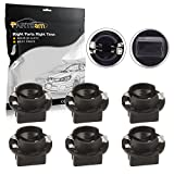 (US) Partsam 6pcs T10 Twist Lock Plug and Play Bulb Holder Sockets for Instrument Panel Lights for BMW 3-SERIES E36