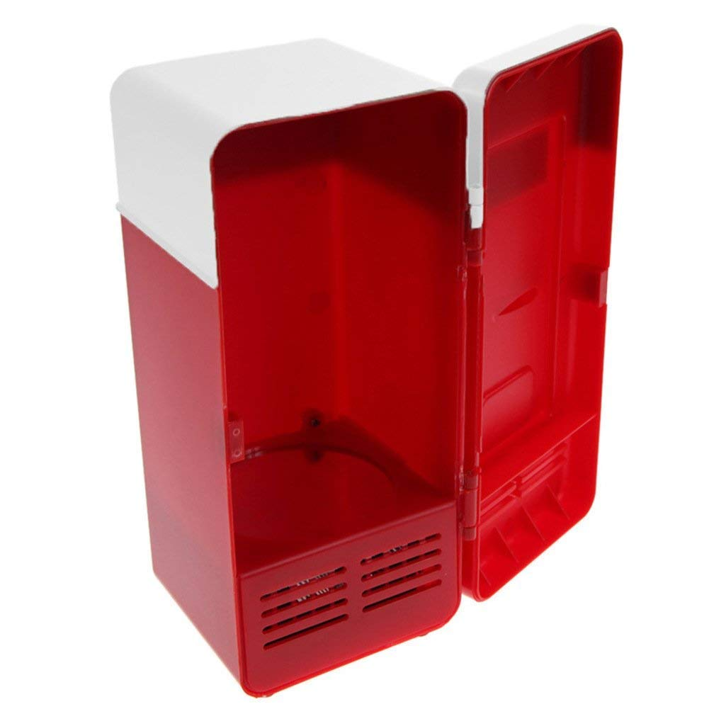 vinmax Mini USB Fridge Portable Beer Beverage Drink Cans Cooler & Warmer Mini Refrigerator for Car Laptop PC Computer Office Home Travel Picnic Boat(Red) by vinmax (Image #5)