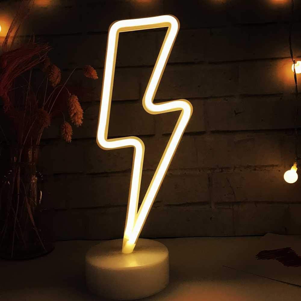 LH Rayo LED en forma de señales de neón luces con pilas / USB Powered caliente blanca del arte decorativa LED luces de la noche decoración de la tabla de Liv