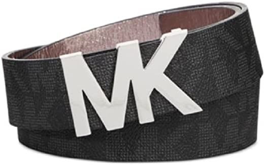 Michael Kors Womens Belt, Signature Logo Wide Belt Black