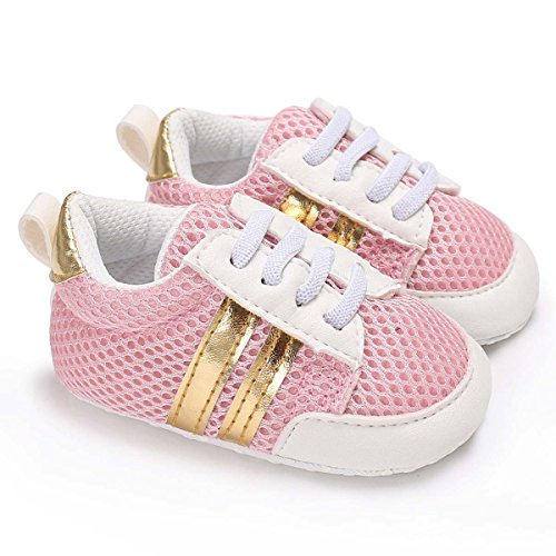 Tutoo Newborn Prewalker Baby Shoes Boys Girls Toddler Soft Anti-Slip Net Sole Surface Shoes Infant First Walkers Shoes Spring Sneakers