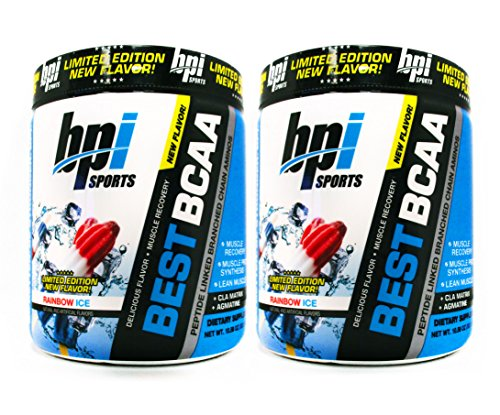 BPI Sports Best BCAA Rainbow Ice - Branch Chain Amino Acid Powder, Recovery and Muscle 10.58 Ounce (30 Servings) (2 Pack)